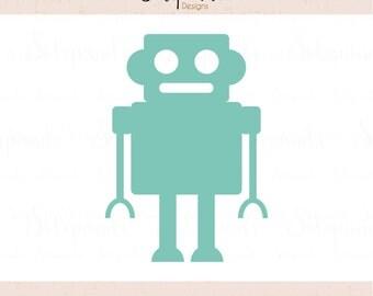 Robot- SVG and DXF Cut Files - for Cricut, Silhouette, Die Cut  Machines // scrapbooking // paper crafts // kids // solipandi // #212