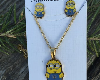 Minion Stainless Steel Jewelry Set