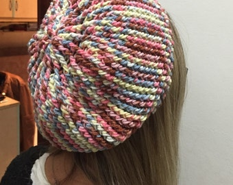 Simple crochet beret-crochet Hat