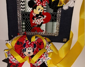 Minnie Mouse Hairbow & Purse