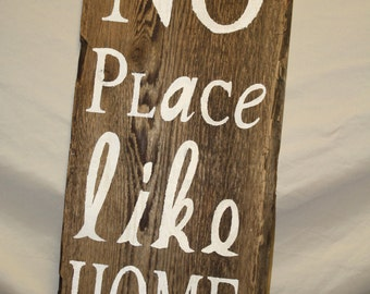 No Place Like Home Handpainted Sign