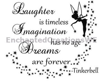 SVG file - Tinkerbell: Laughter/Imagaination/Dreams