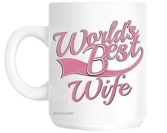 Wife World's Best Pink Novelty Gift Mug shan857