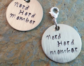 Nerd Gifts~Custom Tags~Nerdy~Custom Charm~made To Order~Group Gifts~