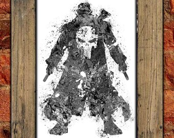 Punisher Spatter Art