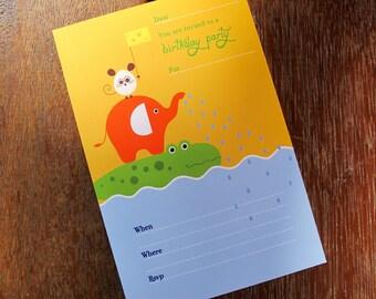 Fun Safari - Printable Invitation