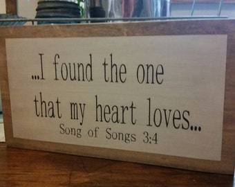 Gable Lane Crate exclusive Song of Songs wood sign