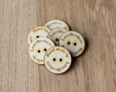 Custom Wooden Buttons with Your Shop Name or Logo, Personalized Buttons, Knitting buttons, Craft Buttons