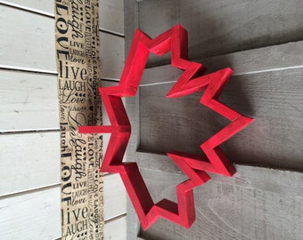 Wooden Maple Leaf
