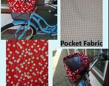 Bike Basket Liner  Red & Aqua