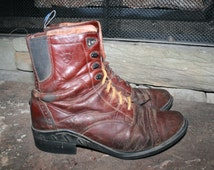 Ariat Brown Kiltie Lace Up Ankle Boots Womens 9.5B