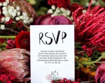 Wedding RSVP Response Card // Paris with Love