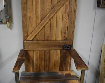 Barn wood  throne/hall tree