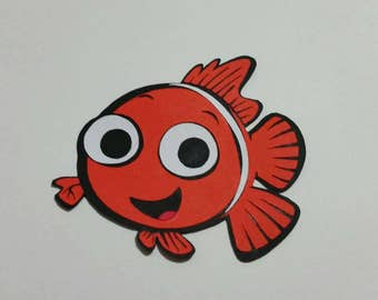 Set of 8  5' finding nemo die cuts, nemo cut out, finding nemo scrapbooking