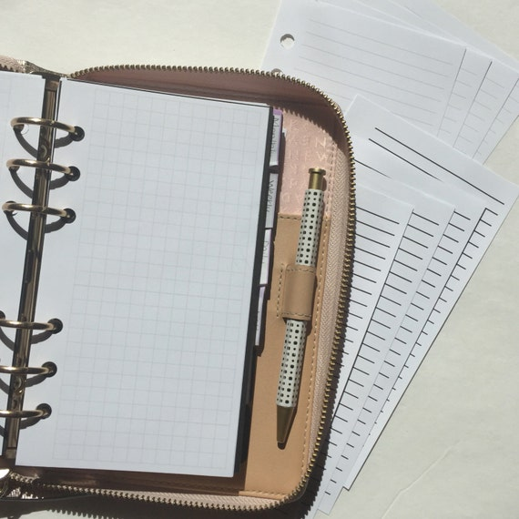 Sampler - Notes Refill - Lined and Grid Planner Inserts