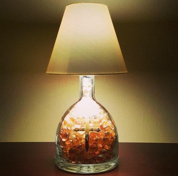 Handmade LED Du'sse Cognac Liquor Bottle Lamp