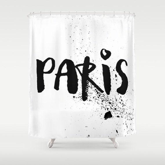 Paris Shower Curtain Black And White Shower Curtain Paris
