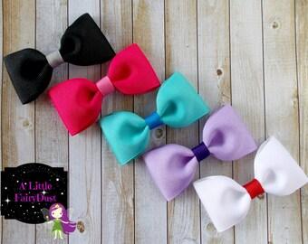 Set of 5 Tuxedo Bows. Starter set, stocking stuffers, baby shower gift.