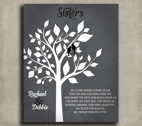 Sister Gift 8x10 Custom Tin Sign Wedding Day Gift For Special Sister ...