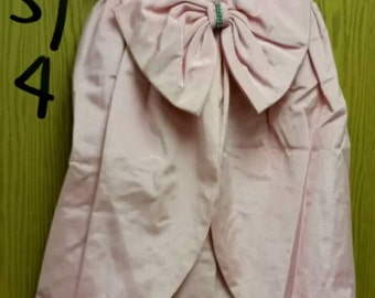 Vintage pale pink 1980's Prom dress with big bow