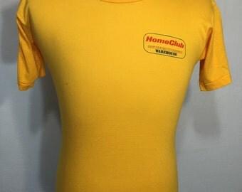 80's vintage healthknit poly/cotton blend t shirt size medium