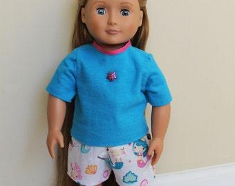 Mermaid American Girl doll pajamas
