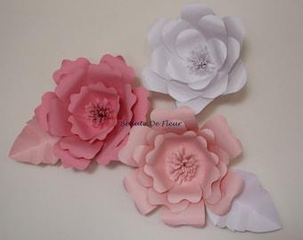 Set of 3 Custom 3D Flowers