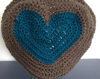 Crochet Heart Beret
