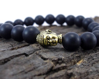Buddha bracelet and frost Onyx