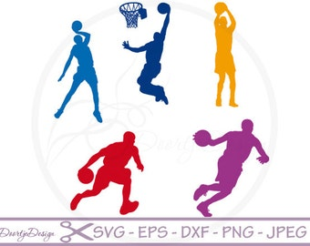 SVG cutting files Basketball Silhouette Digital Clipart, Clipart Basketball, SVG files for cricut, Clip art Cut files, vinyl cut
