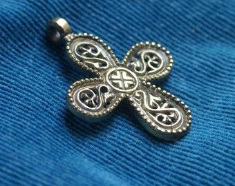 Amulet  Byzantine cross 9-11 century. Medieval tracery cross