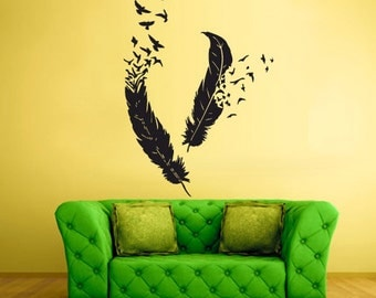 feathers wall art feathers wall decals feathers wall decor feathers wall stickers (Z447)