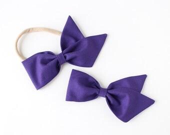 "Amethyst Fabric ""Azalea"" Bow"