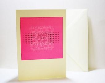 Korean traditional pattern card (screen printed card)