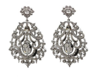 Clear Crystall Vatican Earring