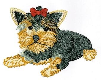 YORKSHIRE TERRIER PUPPY - Machine Embroidery Design
