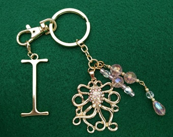 Octopus Key Chain, Purse Charm