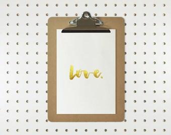 Gold Ink Love Print