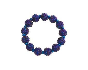 Blue berry beaded bracelet