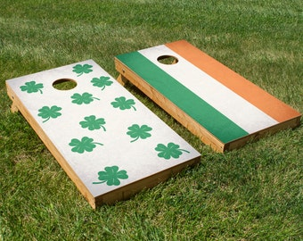 Luck O The Irish Cornhole Board Set with Bean Bags