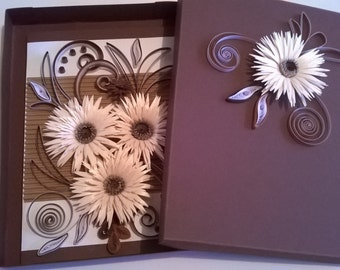 Quilled Mother Day Card, Quilled Birthday Card, Quilling Card, Greeting Card, Handmade Quilling Card, All occasions quilling card
