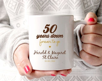 50th Anniversary Gift Wedding Anniversary50 Years Marriage Personalised