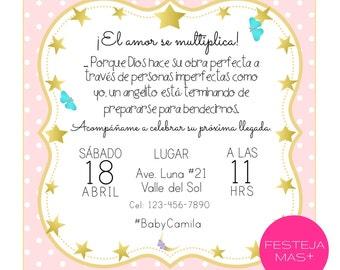 Invitation Baby Shower printable Star Digital