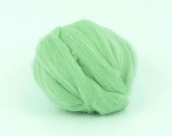 Mint B141,  1.78oz (50gr) 26mic merino tops felting wool, for needle felting, wet felting, spinning.