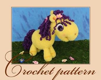 Little pony Violet-Amigurumi Crochet Pattern PDF file by Anna Sadovskaya