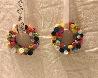 Colorful Button wreath