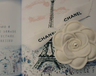 Pearl with Car Air Freshener / Flower Plaster Air Freshener / Ornament / Perfume / Camelia / Chanel