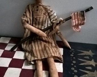 primitive americana doll