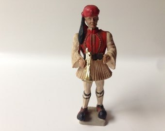 Athena Aohna Greek Presidential Band with Horn Evzon Plastic Toy Soldier