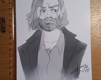 Supernatural Cain sketch print